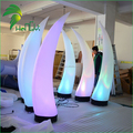 Outdoor Event Decoration Glowing Inflatable LED Lighting Ivory Pillar Balloon