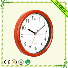 "10"" Professional Design Rhythm Clock with Wooden Grained for Living Room"