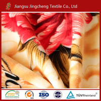 China thickness various print flannel fleece fabric /coral fleec/polar fleece warp knitting with two sides plush blanket fabric