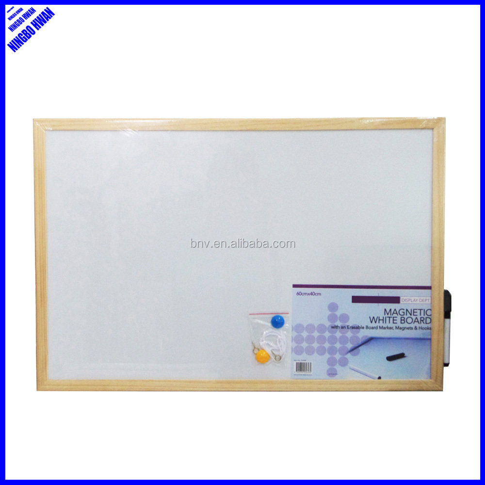 Cheap office standard size magnetic portable whiteboard with wood frame
