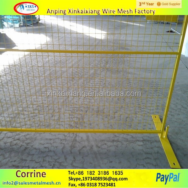 6ft x 10ft Powder Coated Canada Temporary Construction Fence Panel