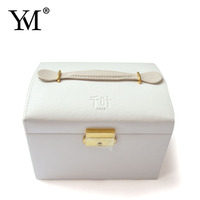 Guangzhou Factory supply ! newest fashion pu leather velvet cosmetic case makeup box with drawer