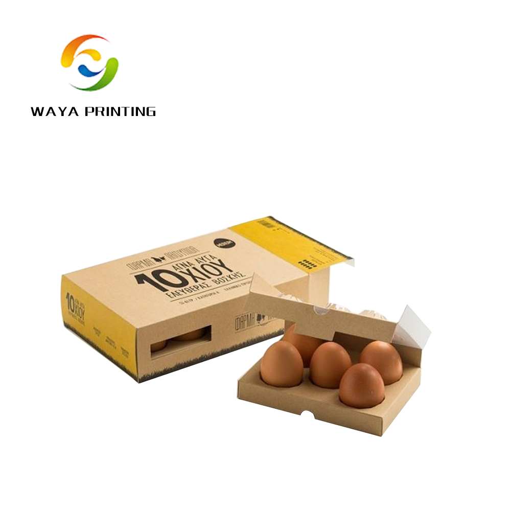 Brown paper customized egg package foldable box