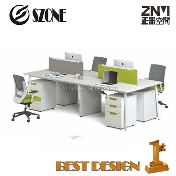 4 Person Modern office Workstations New Design T-WD2412W/T-WD2812W