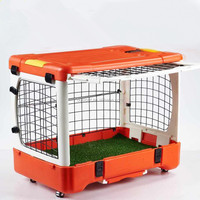 High Quality newest patent design Foldable Pet Cage with Loo/ Travel Transport Box dog cat rabbit Cage Carrier