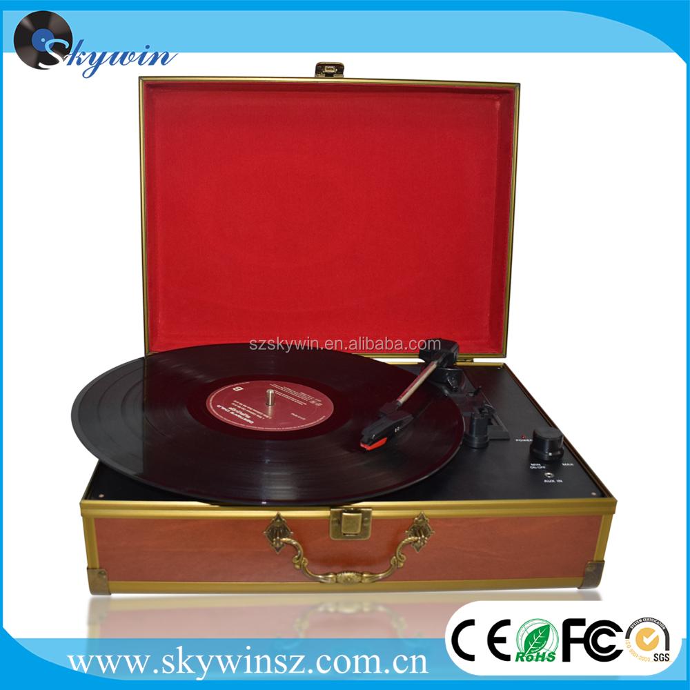Rétro Platine Vinyle Tourne-disque avec Diamant Stylus Aiguille et Casque Jack