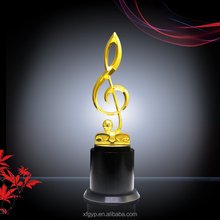 music souvenir award metal trophy