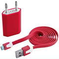 2 in 1 usb travel charger with micro usb cable for samsung mobile phone