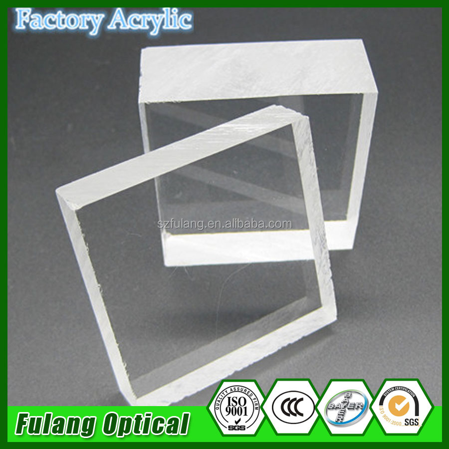 Cheap clear acrylic material 100 150 mm akrilik blok 50mm for sale