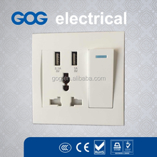 Pc middle board Novelty wall switch with 2 usb port