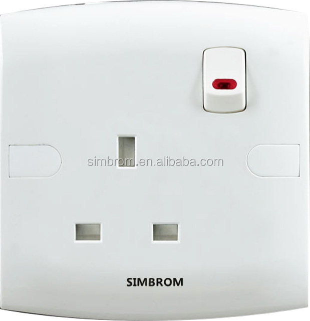 <strong>1</strong> gang 13A <strong>W</strong>/N switch sockets multi socket switch controled