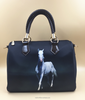 Fashion Women handbag Customize horse printing hangbag with polyester fabric