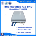 PACPON 8FE Ports Reverse PoE EPON ONU for FTTC/FTTB Outdoor Application
