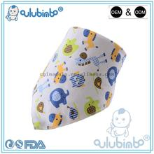 LOW moq Wholesale Private Label Snap cotton fleece baby bandana drool bibs