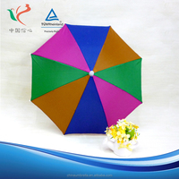 Wholesale high quality new design custom adult no handle rain umbrella hat