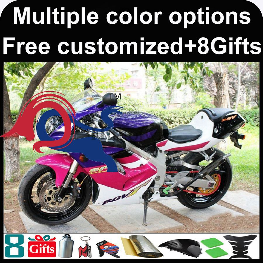 purple motorcycle cowl for Suzuki RGV250 VJ23 1997-1998 97-98 1997 1998 RGV250 VJ23 ABS Fairing