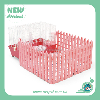 Small Animals Pet Cage with Fence