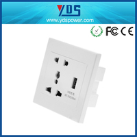 13A switch USB Wall socket with Mobile phone holder