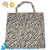 2015 lady fashion designer canvas zebra handbag oem women's shopping hand bag high quality wholesale
