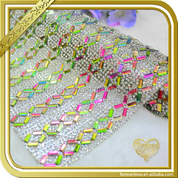 2016 New Arrival Hotfix bling bling Rhinestone Mesh for Shoes Decoration FRM-123