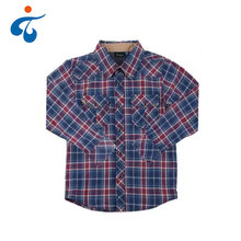 China fabrik neue 100% coton plaid casual kinderhemd