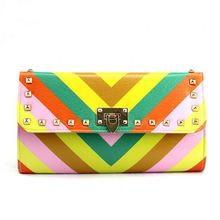 Handcee cute bag shop rainbow funny colors mexican leather handbags