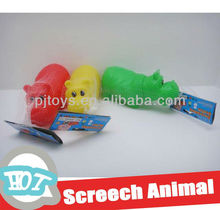 soft plastic hippo with screech vivyl animal toys rubber toy