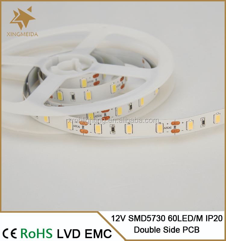 35 LM/LED 60LED/<strong>M</strong> IP20 high brightness 12/24v smd 5630 led strip light bar 14.4w/<strong>m</strong>