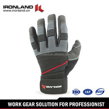 Sure grip texturedpalm pads and fingertips hand gloves manufacturers in China