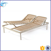 Metal bed design manual slatted adjustable bed frame
