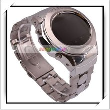 HOT! Silver Mobile Phone Bluetooth MP3 Watch