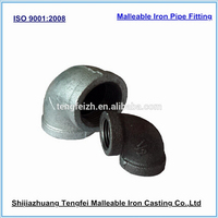 Hot Dipped Galvanized, Electro Galvanized, Black 90 degree swivel elbow