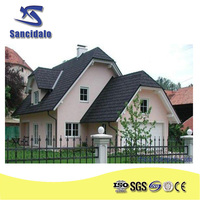 Shingle building material prices/ High quality stone coated steel roofing tile / roman sand stone coated metal roof tiles