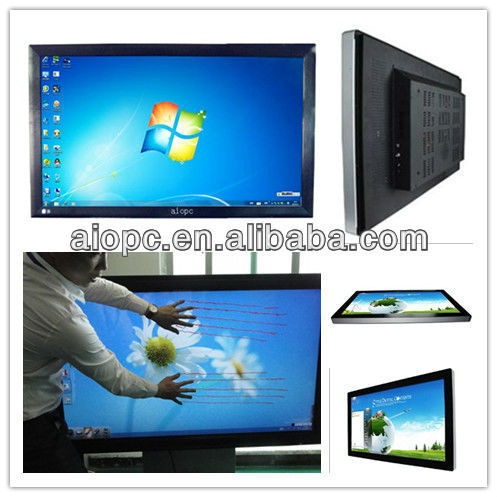 65inch ultra-thin wall mounting all in one pc tv 1080p Core i3+win8