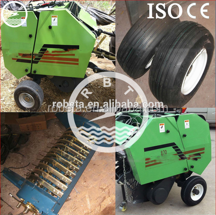 2016 China hot sale cheap factory price mini round hay baler 0086 18137371685