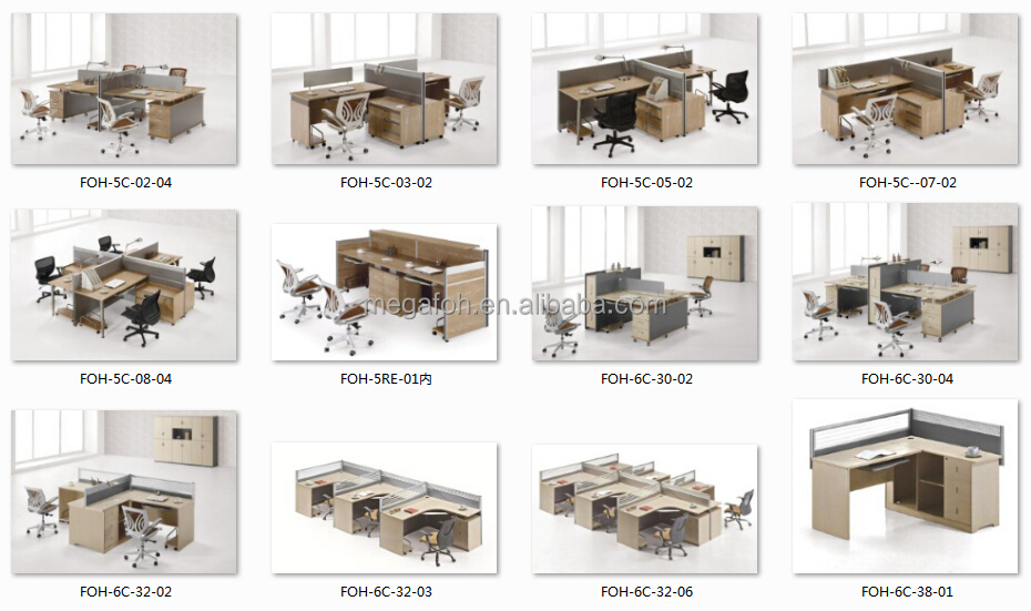 Dubai Market Office Workstation Desk For 3 Person 6 Person