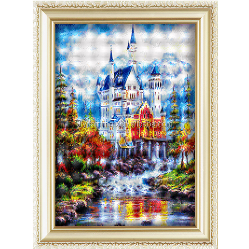China supplier beautiful landscape diy diamond painting 5D