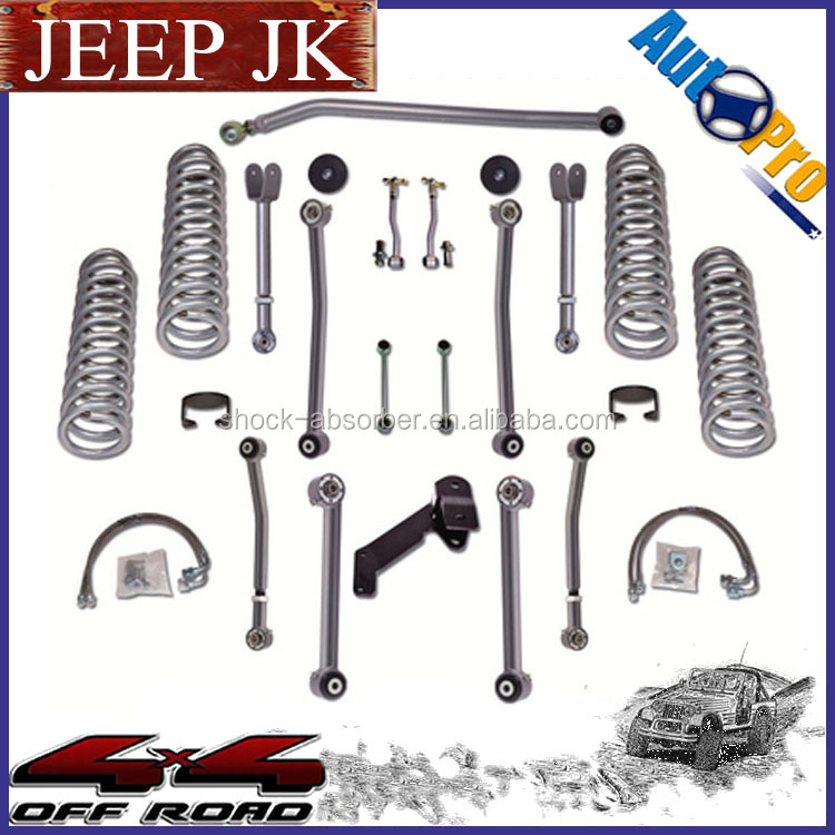 "Factory Price Hot sale 2.5"" 3"" 4"" 4X4 suspension lift kit for jeep wrangler jk 2007+"