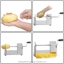 Stainless Steel Tornado Spiral Potato Chips Twister Vegetable Cutter