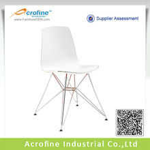 Metal legs modern plastic bar chairs