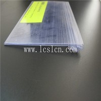 Supermarket pvc plastic shelf edge label strip (LC-402)