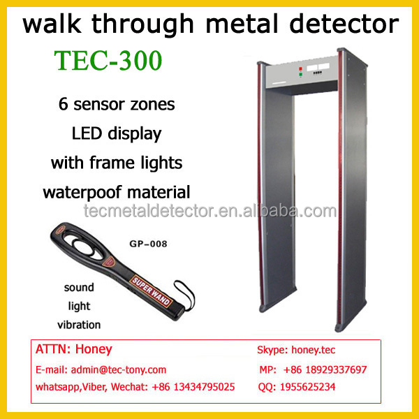 Public Safety Protector, Walk Through Bomb Detector TEC-300 airport security metal detector