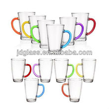 10OZ drink glass with color handle
