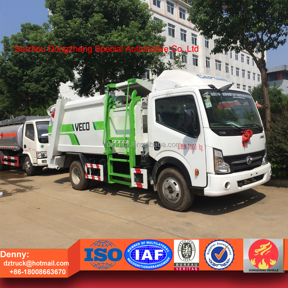 Automatic garbage bin hydraulic lifting compression garbage truck