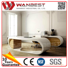 Modern solid surface round marble executive office desk sale