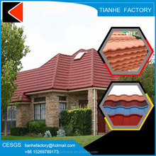 roof shingles stone chip covering coloured al-zinc construction building materials