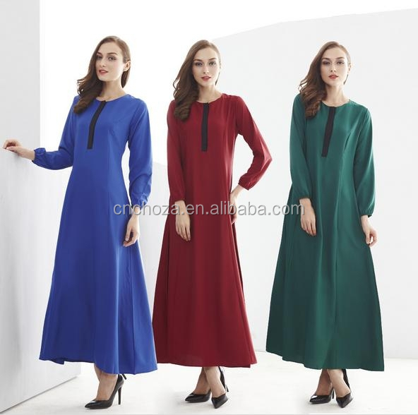 Z51050B Latest design muslim women long muslimah dress, long sleeve muslim evening maxi tarik dress for muslim