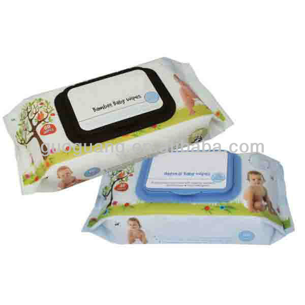Soft baby wipes travel size with lid
