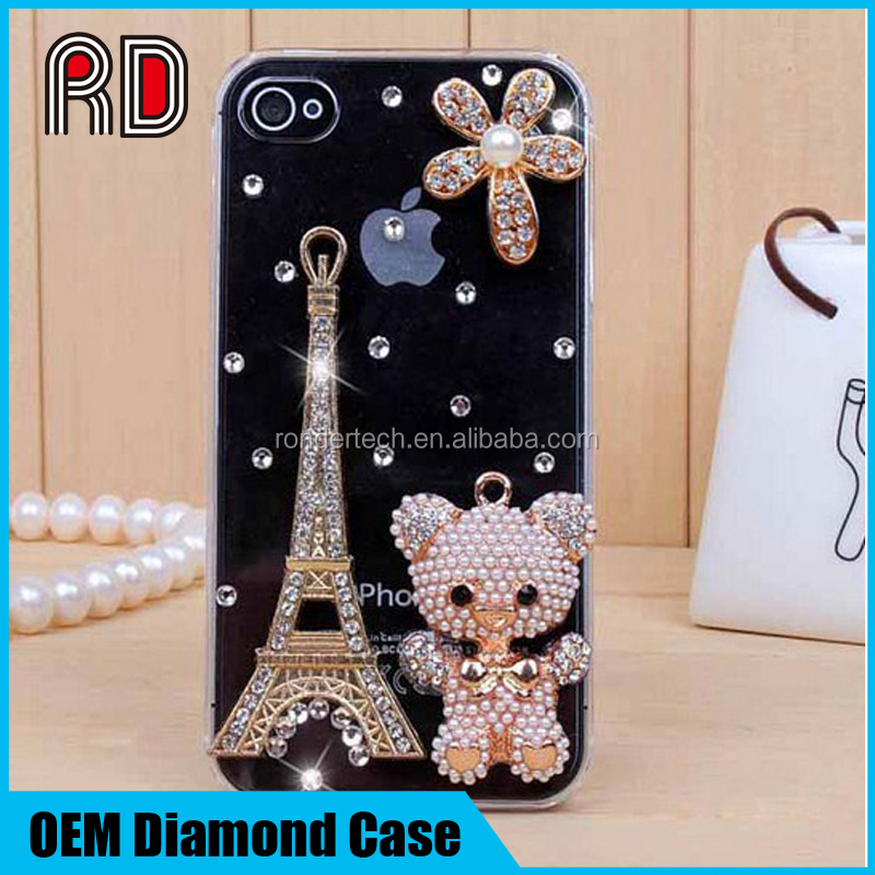 2017 Rhinestone bling Case Cover For Apple Iphone 5 6s 7 7plus Diamond Hard Back Mobile phone Case Cover