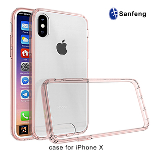 New arrivals free sample phone case for iphone 8,8plus, plastic pc tpu smart phone case for IPhone X